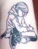 nwhepcat: tattoo on inner forearm of Harriet the Spy illustration (Default)