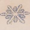 piglet: closeup of blue glitter snowflake on white t-shirt: Torrid tanktop (snowflake)