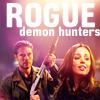 """deird1: Faith and Wesley, with text """"rogue demon hunters"""" (Faith Wesley rogue demon hunters)"""