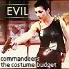 spiralsheep: Evil commandeers the costume budget (chronographia Servalan Evil Costume)