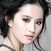 Crystal Liu, expressionless.