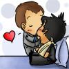 kate: chibi!Rodney kisses hurt!chibi!John (SGA: John/Rodney h/c chibi)